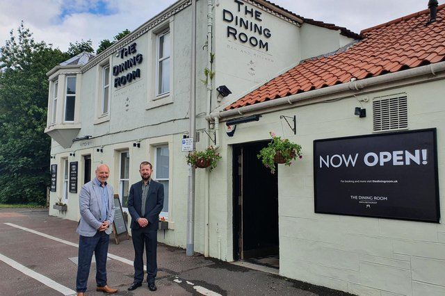 The new owners of The Dining Room - from left: Andrew Lowrie and Barry Dudley.
