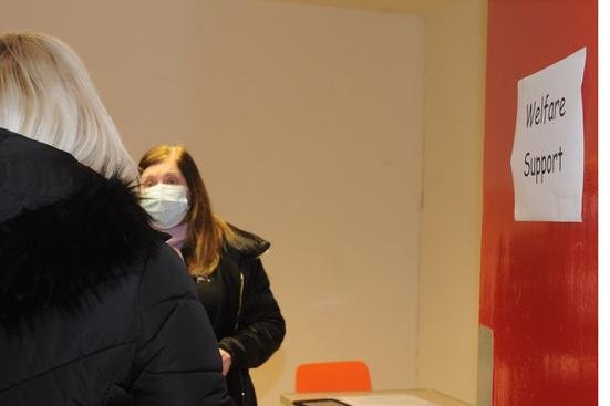 Staff are on hand to provide information on welfare support at the centre. Pic: George McLuskie.