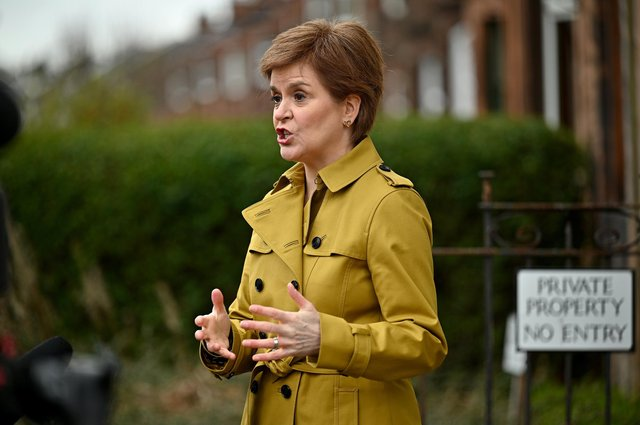 Campaigning for the Scottish Holyrood Elections restarts after a four day suspension following Prince Philip's death (Photo by Jeff J Mitchell/Getty Images).