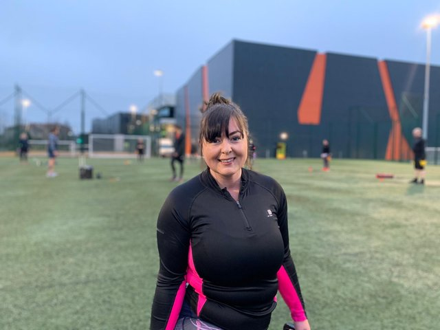 Sarah King-Fury from Glenrothes was one of the first customers back this year – she attended an outdoor kettlebell session at Michael Woods Sports and Leisure Centre.
