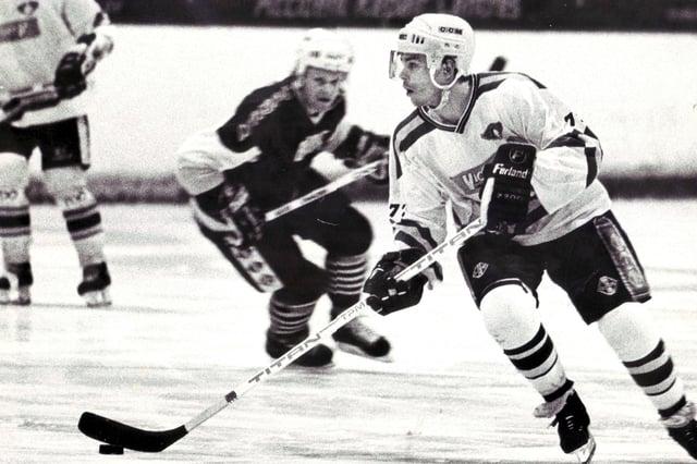 Fife Flyers - import forward Luc Beausoleil 1989-90 (Pic: Fife Free Press/Bill Dickman)