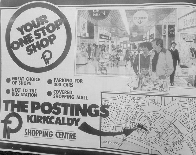 An advert from the Fife Free Press in 1984 promoting the 'one stop shop' Postings Centre