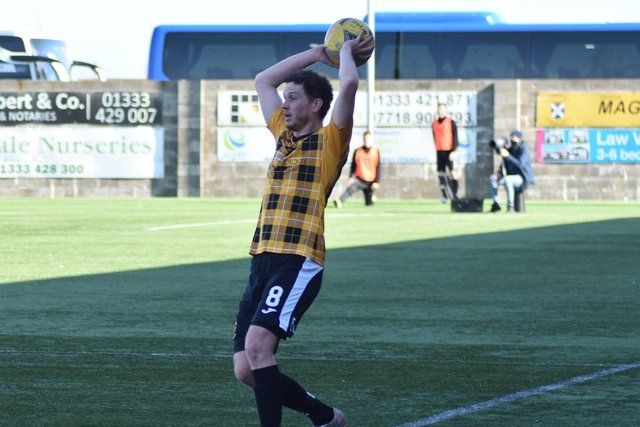 East Fife's Pat Slattery appeared in the black and gold for the 200th time on Saturday. Pic by Kenny Mackay