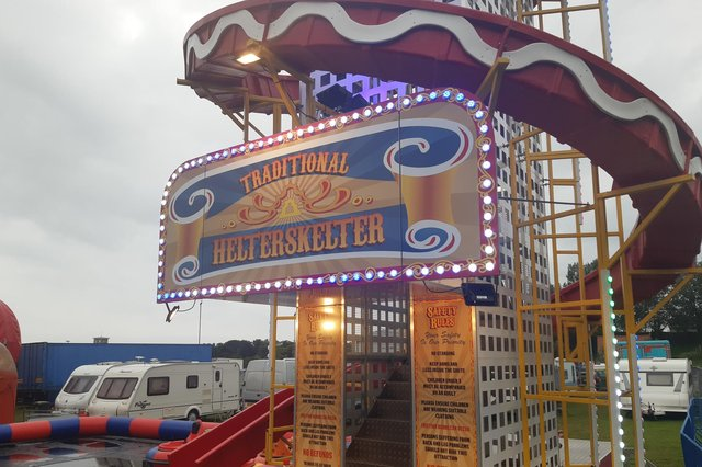 The helter skelter is back at Burntisland Shows which have returned to the town's :Links for the s2021 summer (Pic: Fife Free Press)