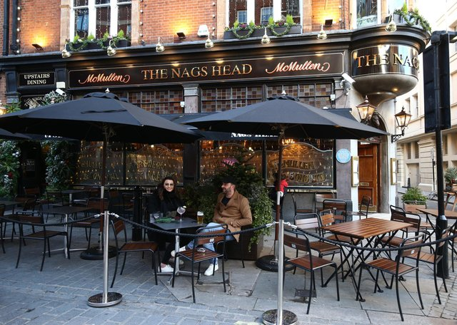 Pubs will be able to serve customers outside in England from today