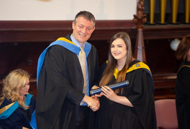 Iain Hawker from the college at a previous graduation ceremony. Picture taken before coronavirus restrictions.