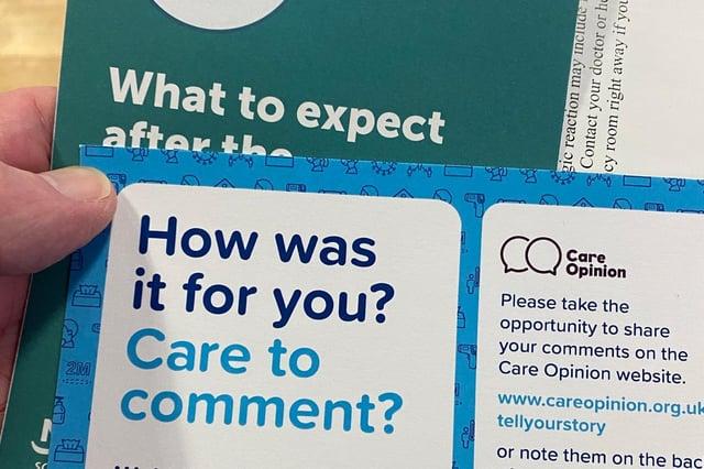 COVID vaccine leaflets (Pic: John Murray)