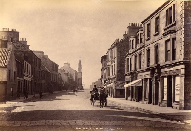 Burntisland through the ages: This is an early photograph of Burntisland High Street taken circa 1890. Pic: Andrew Young.