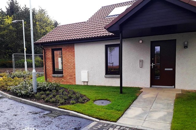 The new homes in Wilmington Drive, Glenrothes