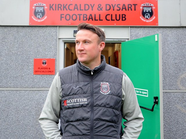 Kirkcaldy & Dysart FC manager Craig Ness (Pic: Fife Photo Agency)