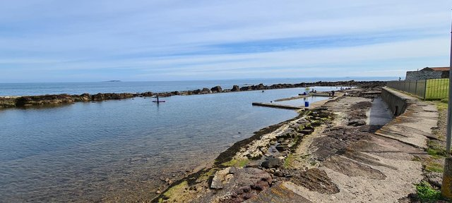A group is aiming to restore the Cellardyke coastal pool. Pic: Robert Gall.