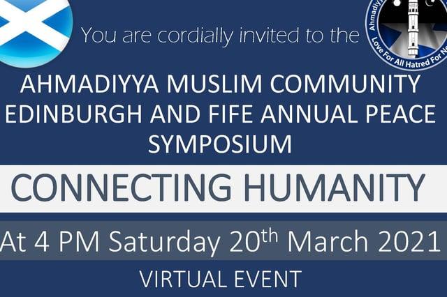 Peace symposium flyer.