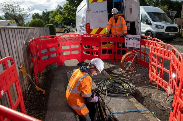 Openreach teas working in the community