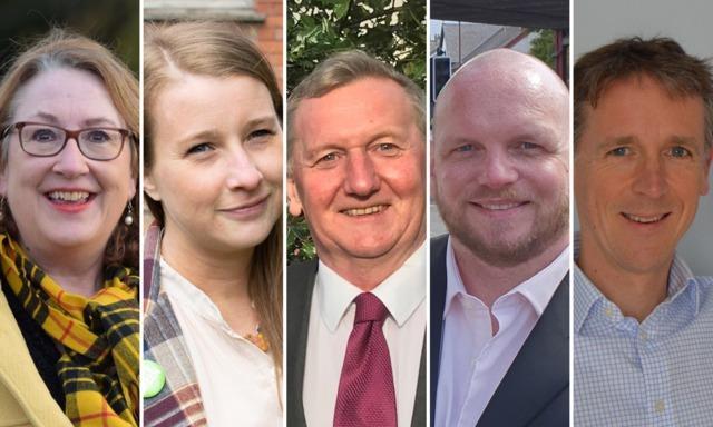 The candidates in Cowdenbeath (Pic: Jon Brady)