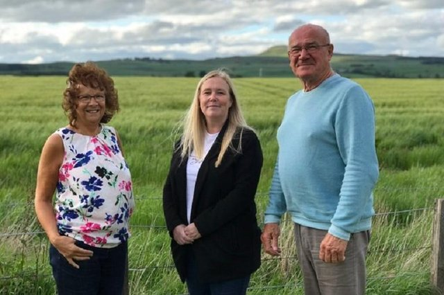 Edith Sheerins, Keri Duffy and Richard Pokara, part of the Concerned Newcastle Residents (CNR) group which has concerns about Hallam Land Management's plans for Milldeans Farm
