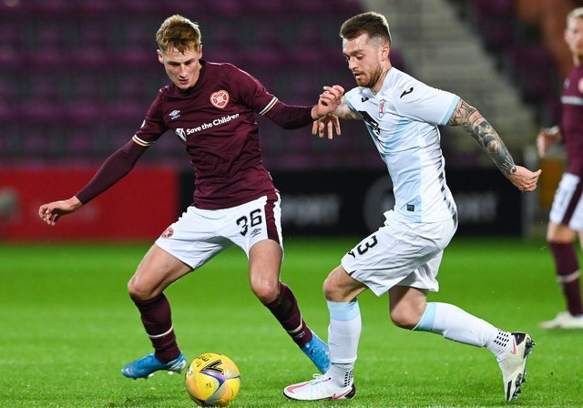 Raith Rovers and Friday's opponents Hearts met in the League Cup this season (Pic: Bill Murray/SNS Group)