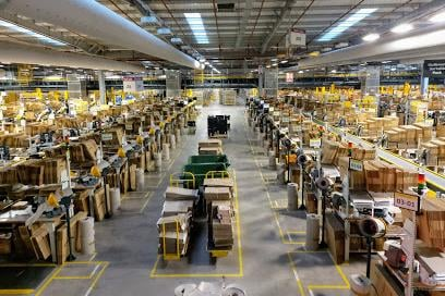 Amazon's Dunfermline warehouse is one of 24 across the UK