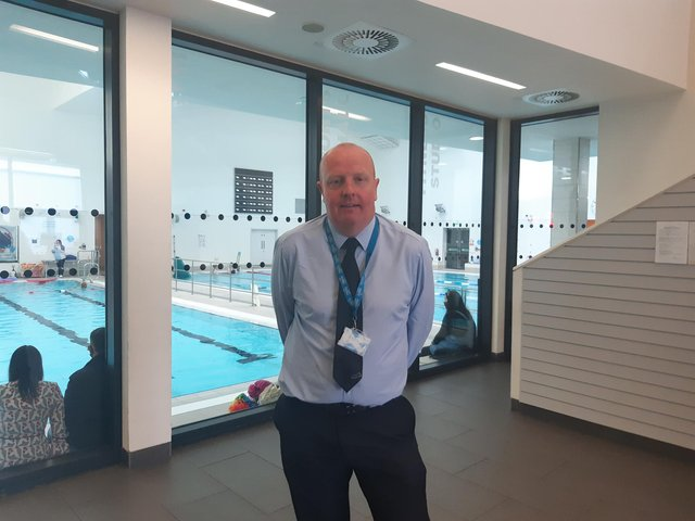 Paul Hossack, area leisure manager at Kirkcaldy Leisure Centre which opened its doors this week after the four-month lockdown.