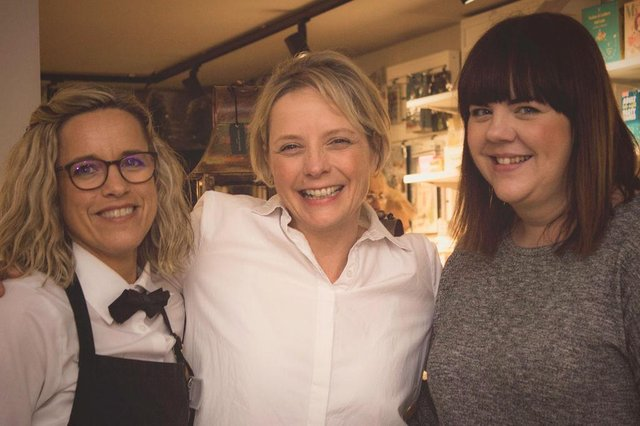 Emma Niven (centre) with shop managers Emma and Katie.