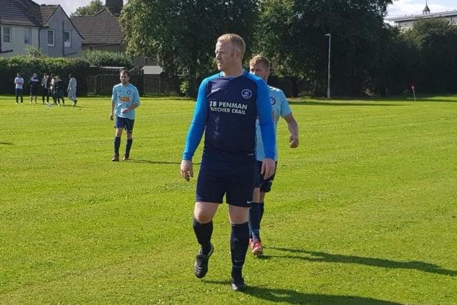 St Monans Swallows player/manager Gordon McGilvary.
