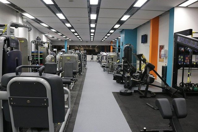 The  gym at Kirkcaldy Leisure Centre