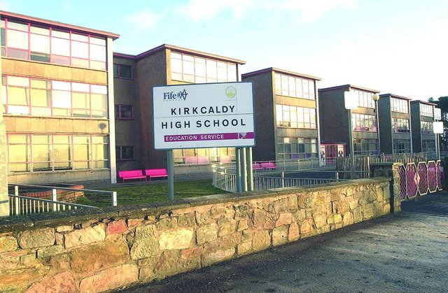 Kirkcaldy High School is one of the schools affected