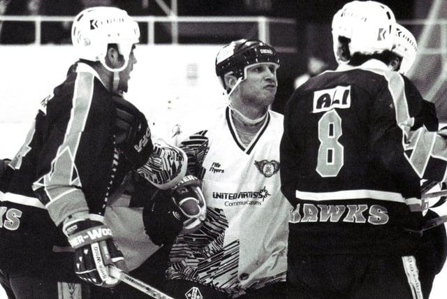 Fife Flyers - Doug Marsden  in action in a game against Humberside Hawks (Pic: Peter Jones)