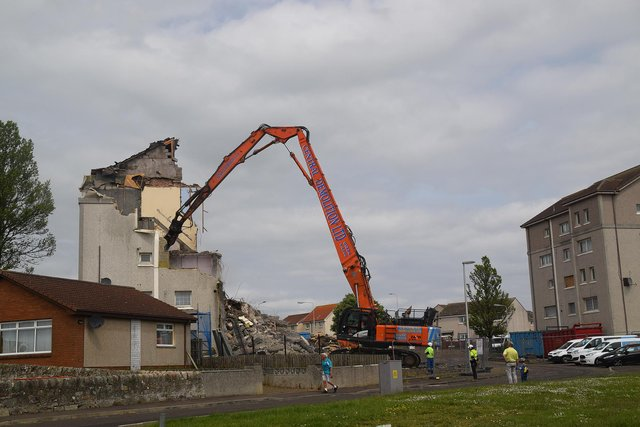 The demolition work started earlier this year. Pic: Jerzy Morkis.