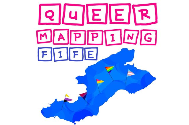 Logo for Queering the Map, Fife