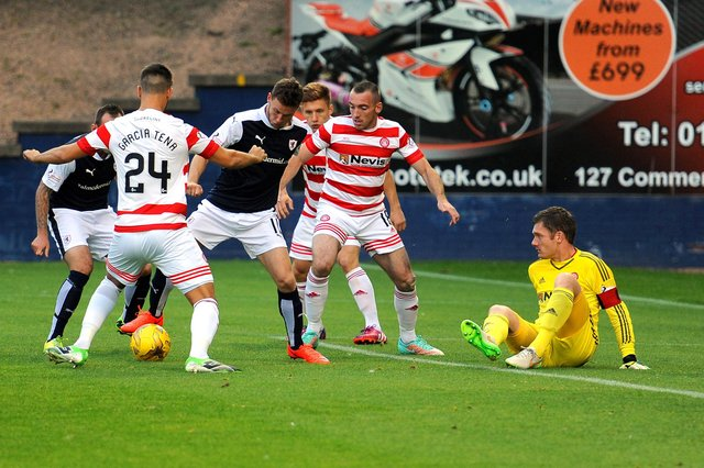 Raith Rovers last met opening day opponents Hamilton in a 2015 League Cup tie (Pic: Fife Photo Agency)