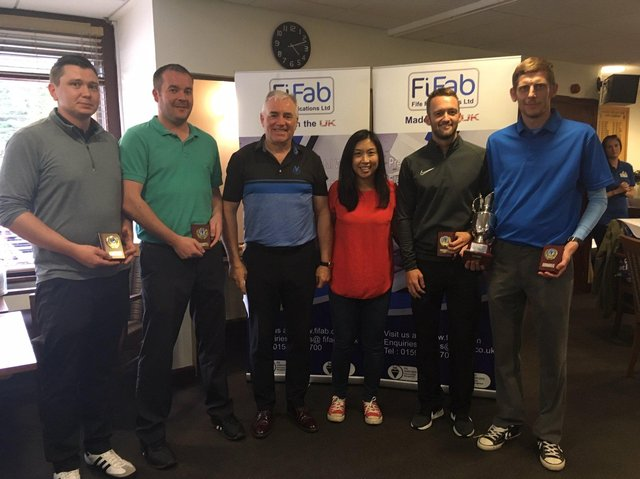 Participants at the Gillian Parsons Memorial Golf Day in 2019 when it was last held.