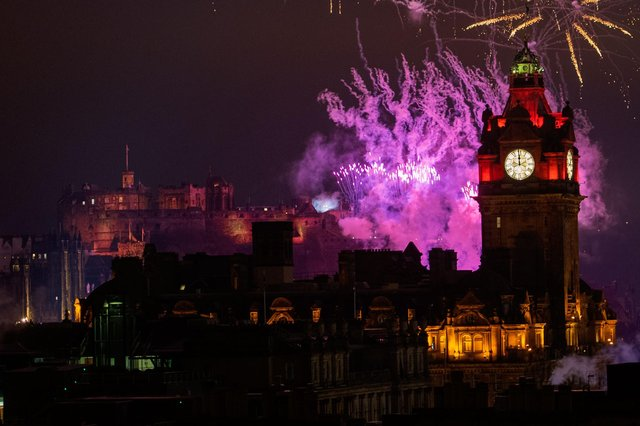 Edinburgh Hogmanay celebrations last year after the First Minister announced today it is not expected that there will be an easing of lockdown restrictions for this year's celebrations (Photo: Ian Georgeson).