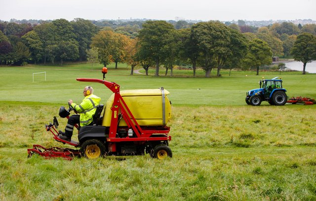 The move will see less work to cut back some grassy areas.