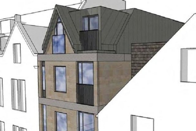 The vision of how the flats might have looked.