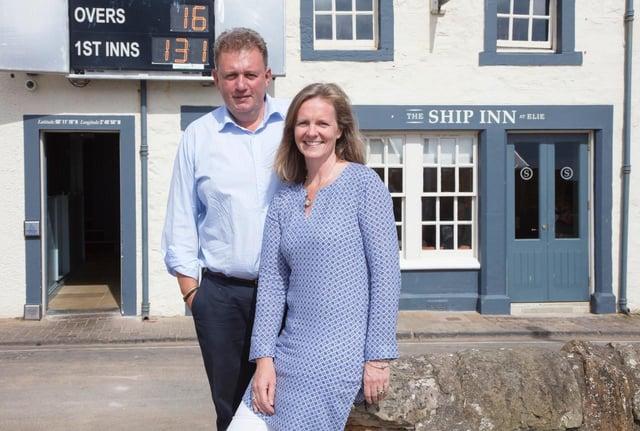 Graham and Rachel Bucknall from the TBC Pub Company.