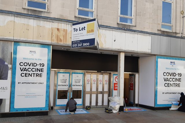 The new vaccine centre in Kirkcaldy High Street