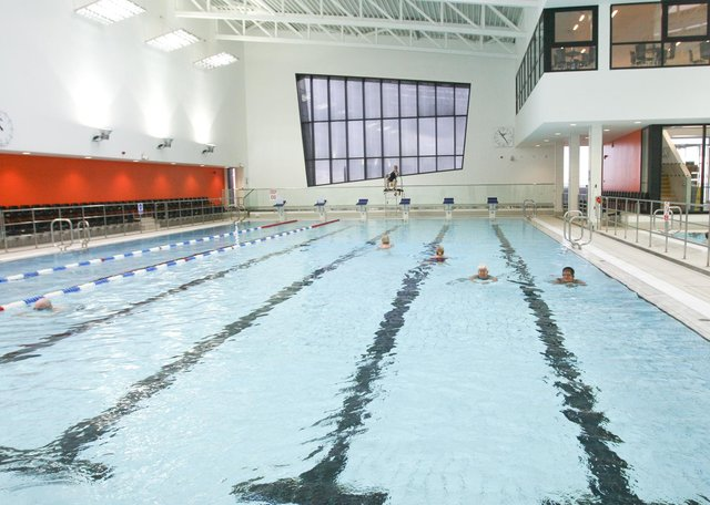 The new swimming pool at Kirkcaldy Leisure Centre