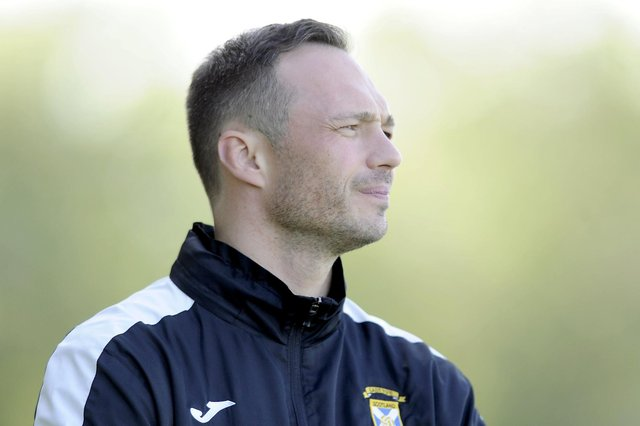 East Fife manager Darren Young. Pic by Michael Gillen