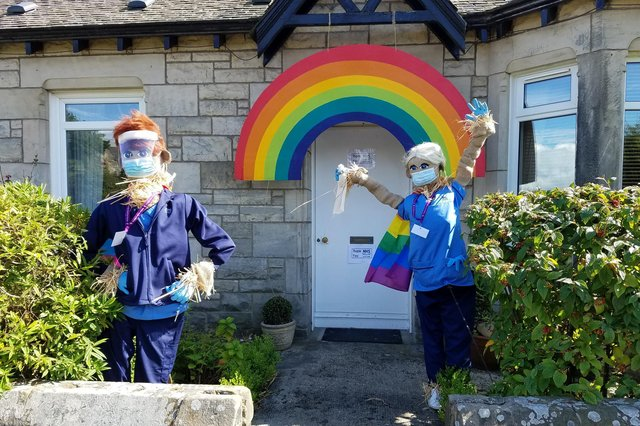 A display dedicated to the NHS from last years Scarecrow Trail.
