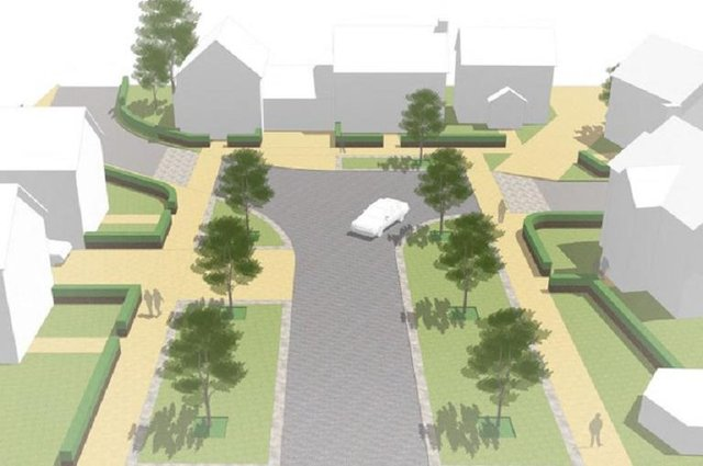 The  propose development at Milldeans, Leslie
