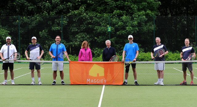 The group at Kirkcaldy Tennis Club (Pic: Fife Photo Agency)