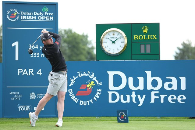 Connor Syme plays a practice round ahead of the Dubai Duty Free Irish Open at Mount Juliet Golf Club. Photo by Warren Little/Getty Images
