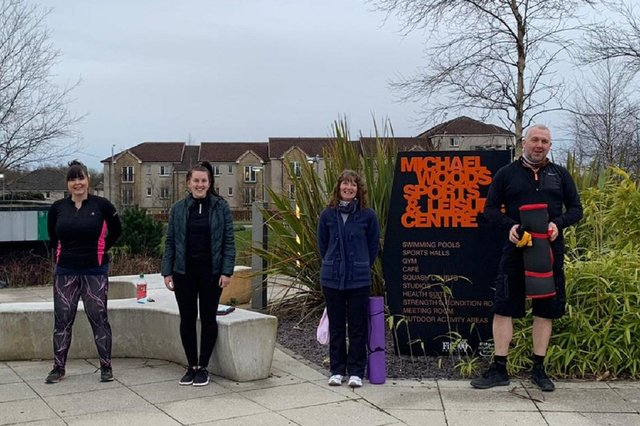 Outdoor classes at Michael Woods Centre, Glenrothes