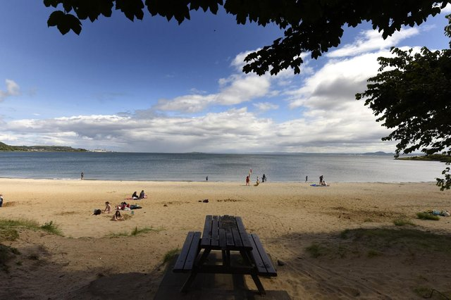 Aberdour beach will  be busy today (Pic: Fife Photo Agency)