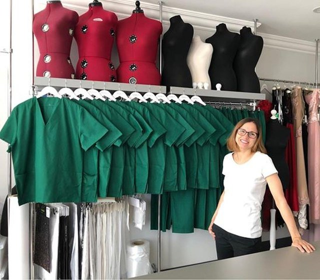 NHS Scotland For The Love of Scrubs was started by Kirkcaldy bridal wear designer Mirka. She and her team of 400 volunteers made over 15,000 sets of scrubs for healthcare workers. Now Mirka and her daughter Maja have been nominated, along with others, for an award.