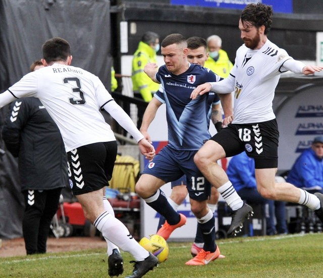20-03-2021. Picture Charlie Gilmour. AYR. Somerset Park. Ayr Utd v Raith Rovers. SPFL Scottish Championship.