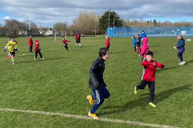 With smiles on their faces, young footballers have been enjoying the Glenrothes FC Easter camps