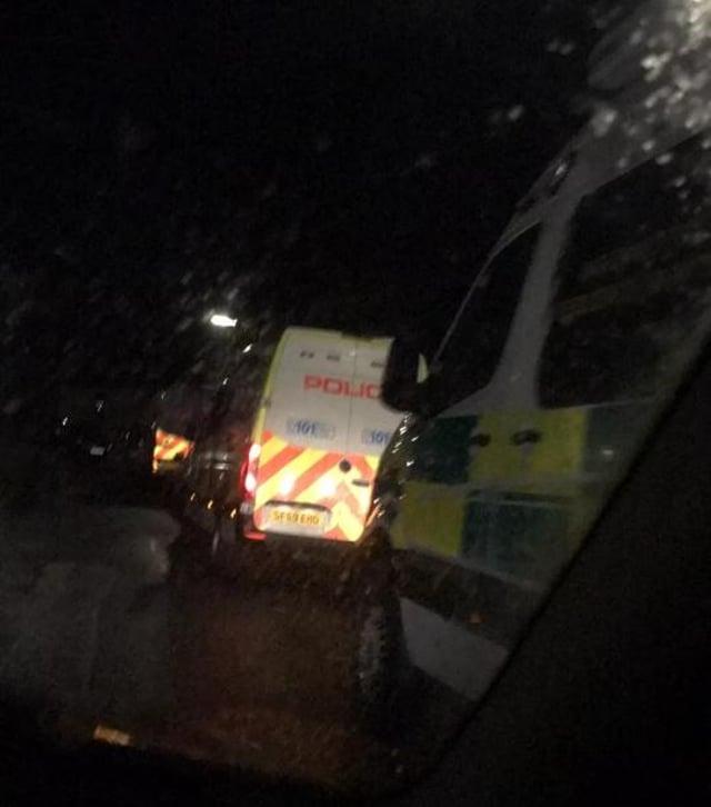 Police presence seen in Burntisland (Photo: Fife jammer locations).