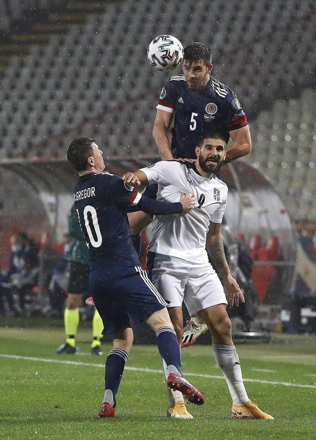 Mitrovic had penalty saved to put Scotland through (Pic by Getty Images)