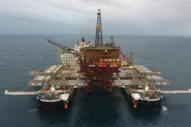 Allseas' Pioneering Spirit photographed on a previous project.